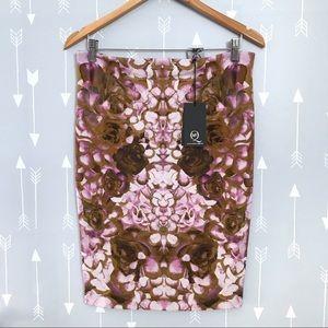 NWT Alexander McQueen Knit Print Pencil Skirt